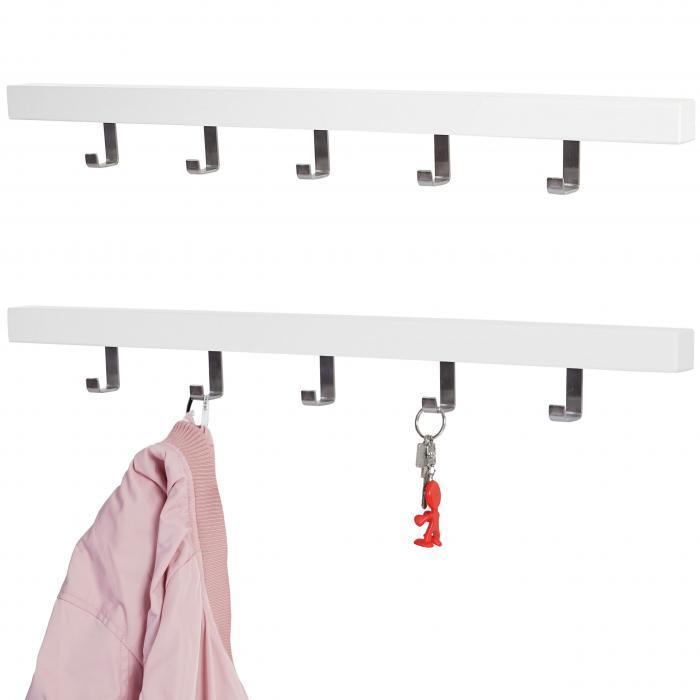 2x wandgarderoben set almelo garderobenleiste garderobe for Einfache garderobenleiste