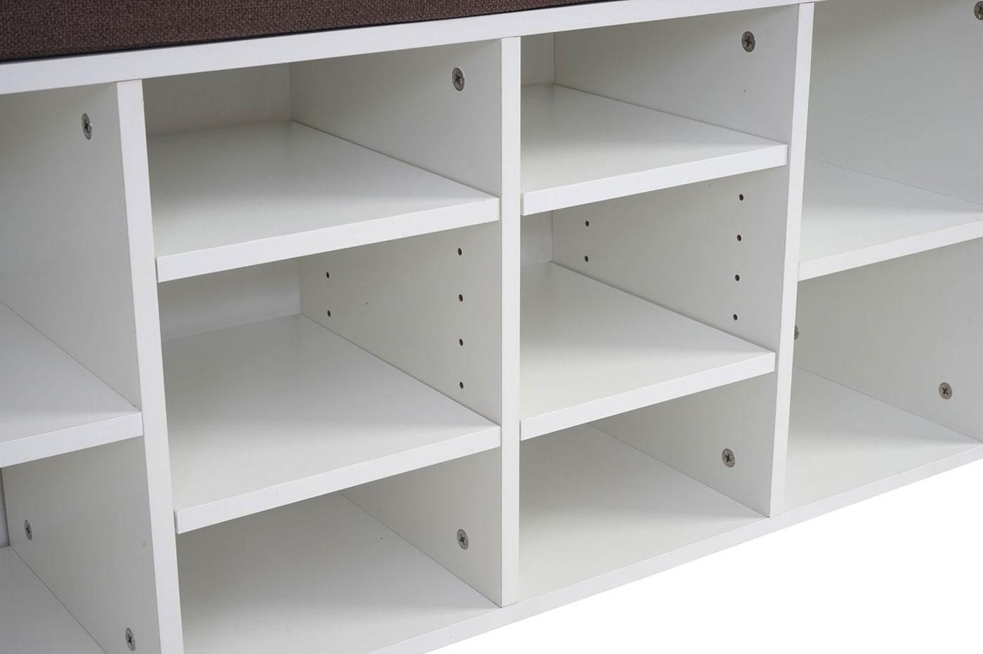 sitzbank brisbane schuhschrank regal sitzkissen 49x104x29cm. Black Bedroom Furniture Sets. Home Design Ideas