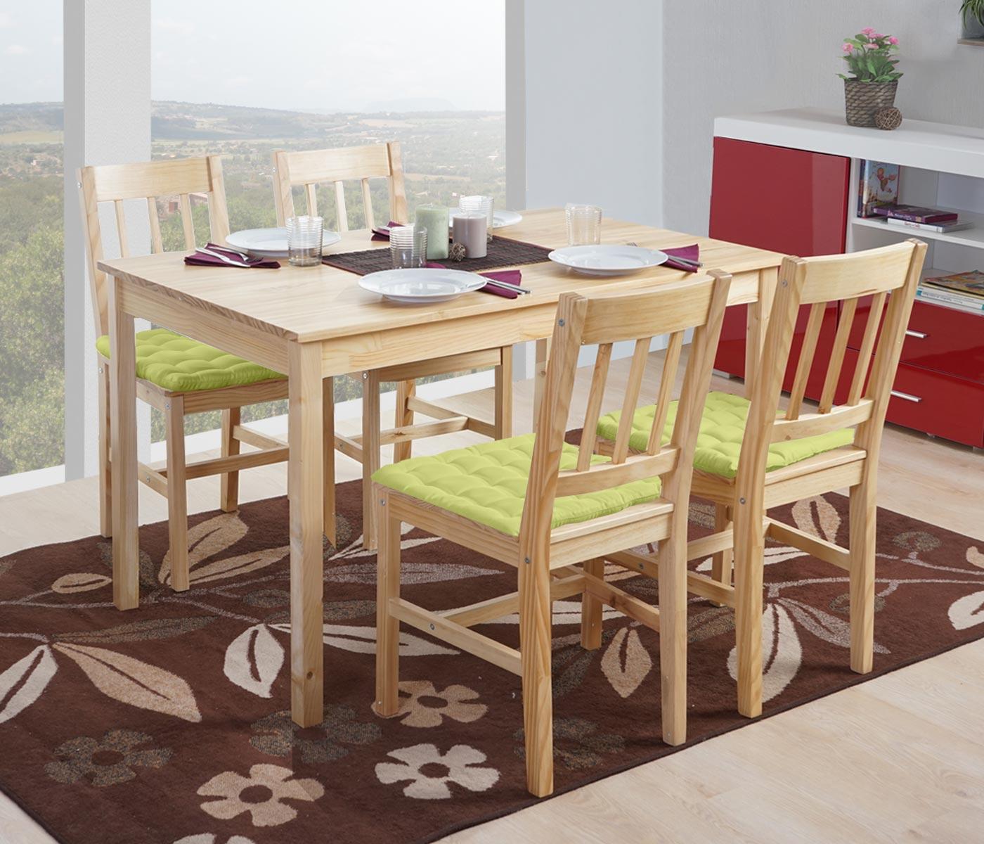 Set tavolo con 4x sedie sala da pranzo soggiorno Harstad ...