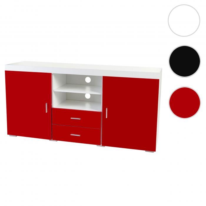 kommode portland sideboard highboard hochglanz 160x80x40cm rot. Black Bedroom Furniture Sets. Home Design Ideas