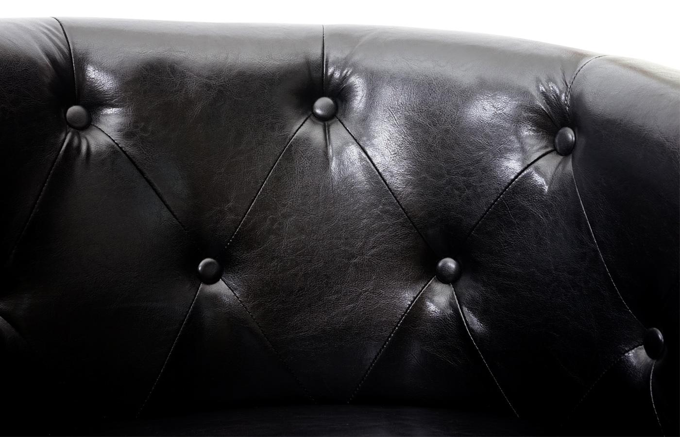 Sessel Newport T810 Detailansicht Kunstlederbezug