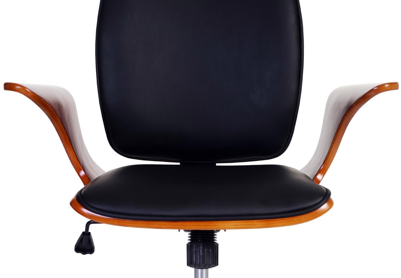 Bugholz Kunstleder schwarz Chefsessel Drehstuhl Bürostuhl Alta