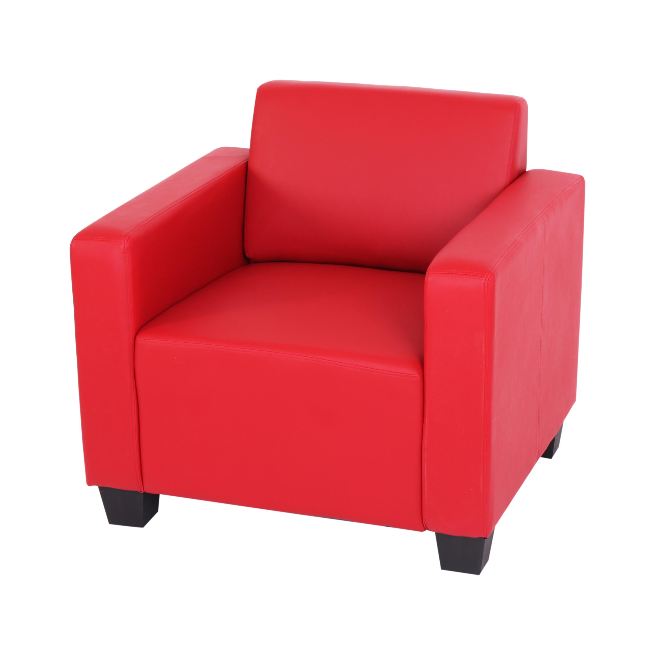sessel loungesessel lyon kunstleder rot. Black Bedroom Furniture Sets. Home Design Ideas