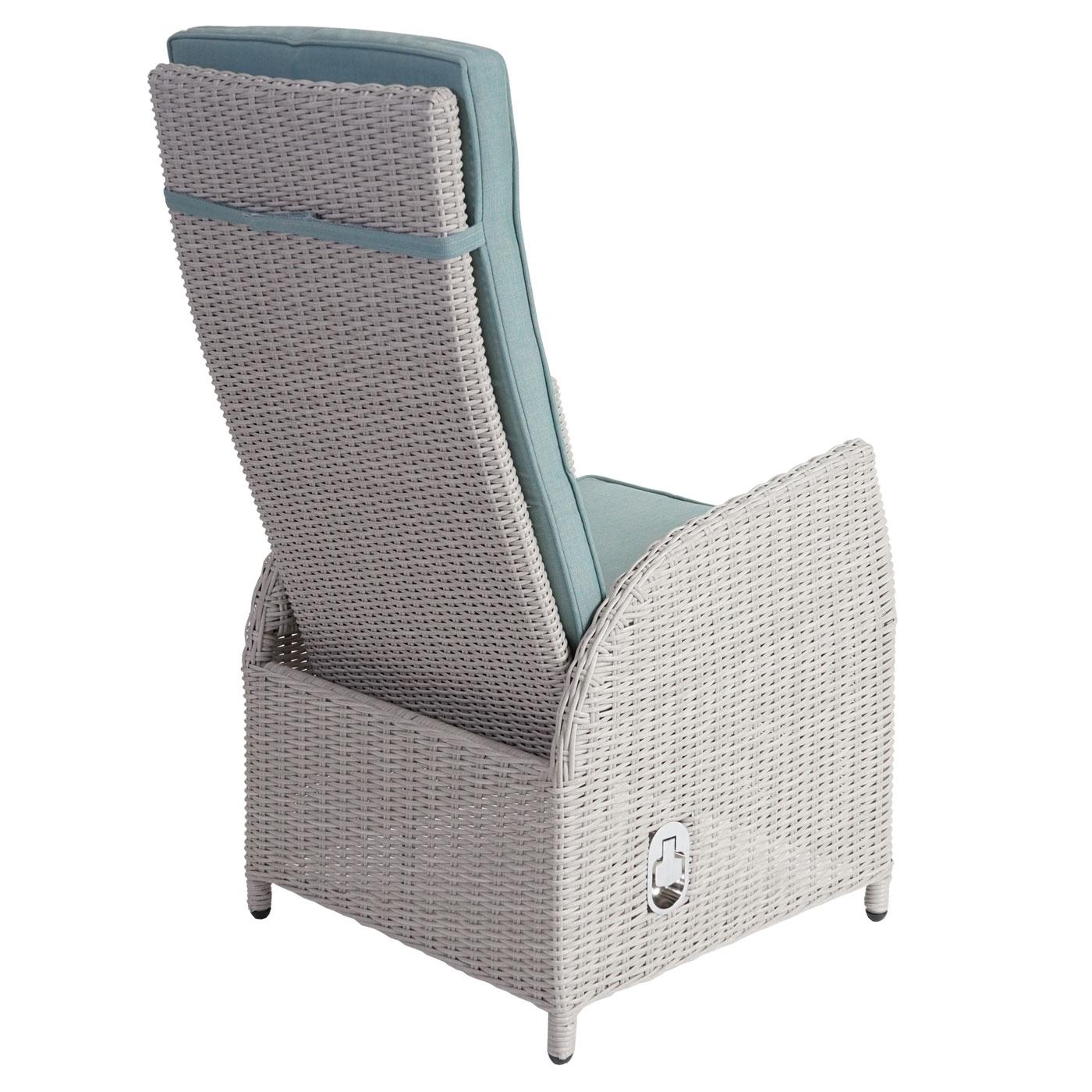 Luxus Poly Rattan Garnitur Badalona Premium Alu Sitzgruppe Tisch