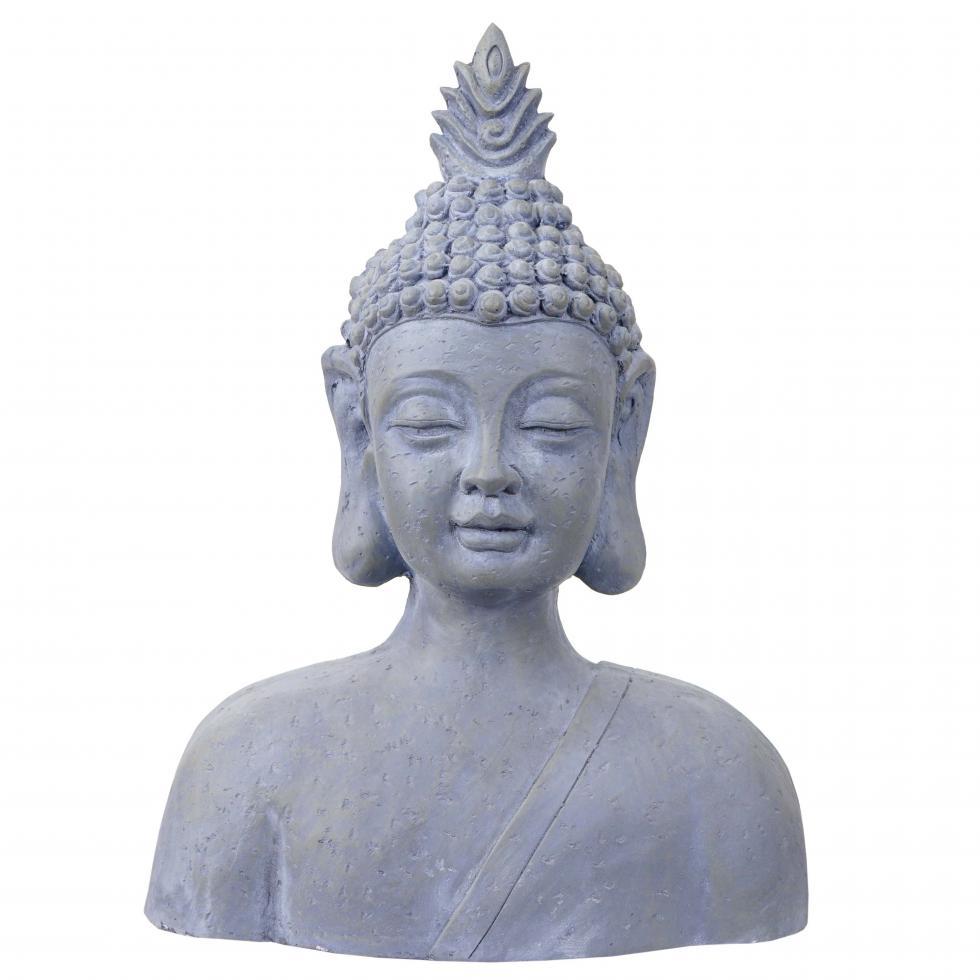 Xxl deko buddha 60cm figur polyresin skulptur b ste in - Garten buddha frostsicher ...