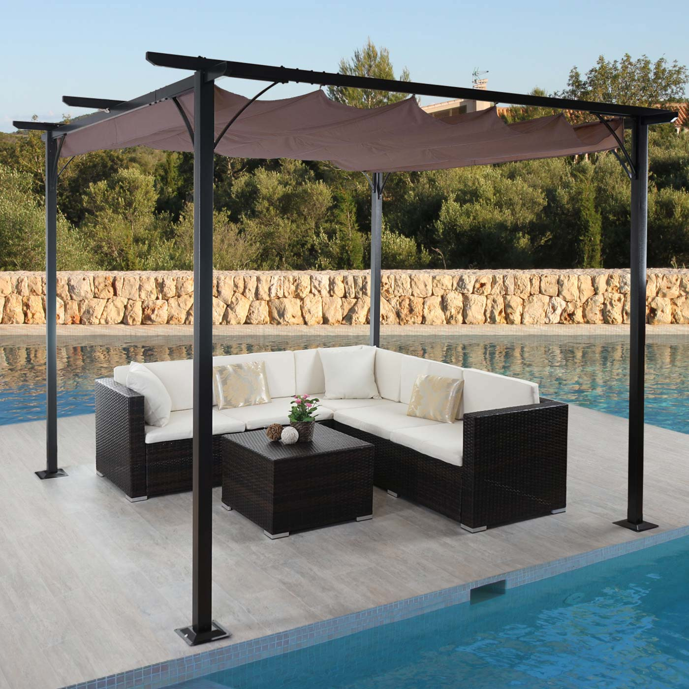 pergola beja garten pavillon terrassen berdachung. Black Bedroom Furniture Sets. Home Design Ideas