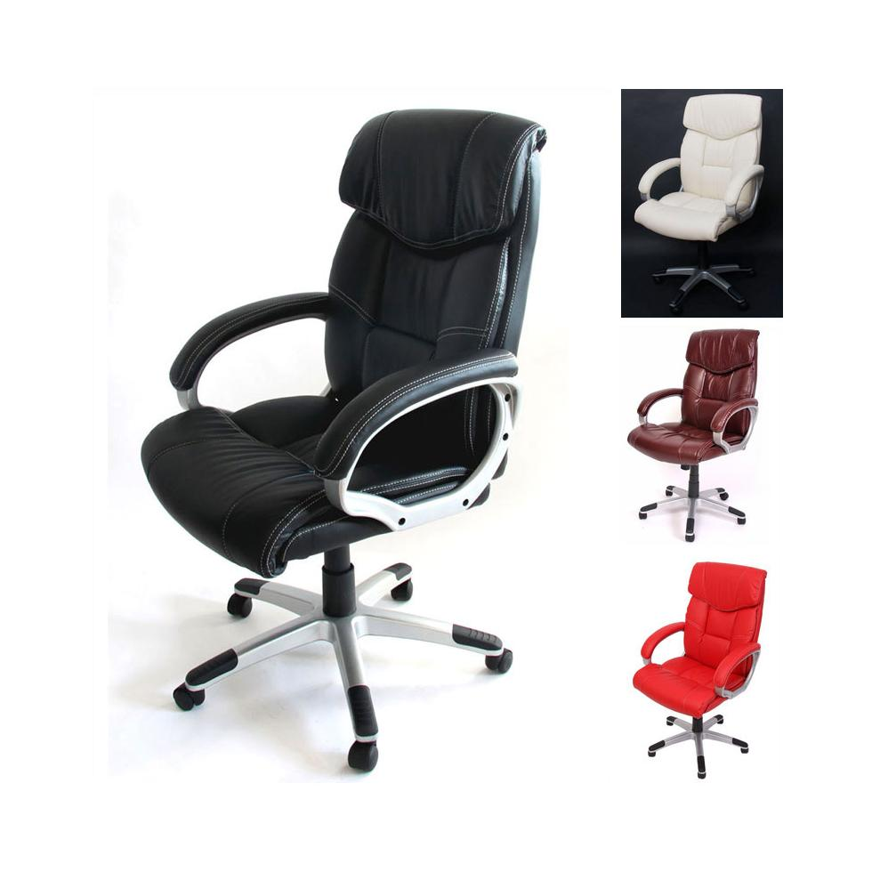 b rostuhl chefsessel drehstuhl m61 kunstleder schwarz creme bordeaux rot ebay. Black Bedroom Furniture Sets. Home Design Ideas