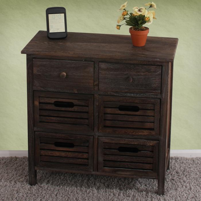 defekte ware schrank kommode 60x60x30cm shabby look vintage braun. Black Bedroom Furniture Sets. Home Design Ideas