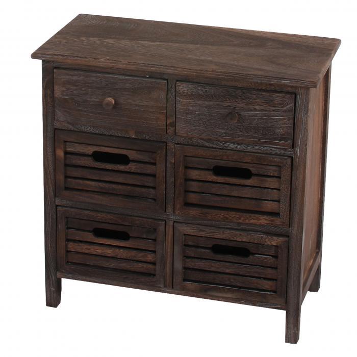defekte ware schrank kommode 60x60x30cm shabby look vintage braun. Black Bedroom Furniture Sets. Home Design Ideas