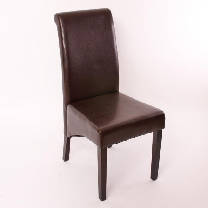 Esszimmerstühle Leder Braun esszimmerstuhl lehnstuhl stuhl m37 leder braun dunkle füße