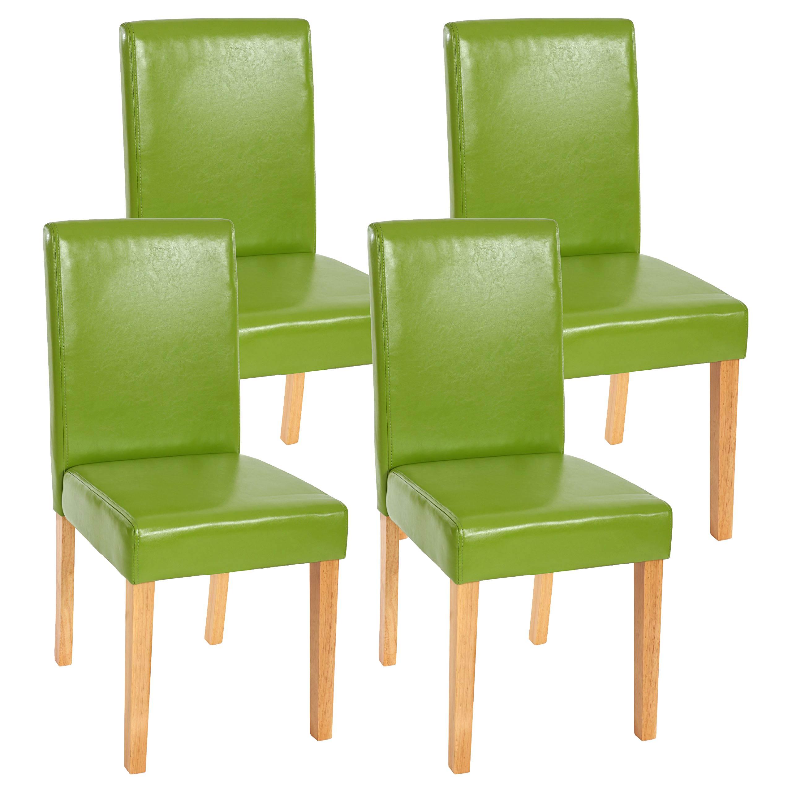 4x esszimmerstuhl stuhl lehnstuhl littau kunstleder gr n helle beine. Black Bedroom Furniture Sets. Home Design Ideas