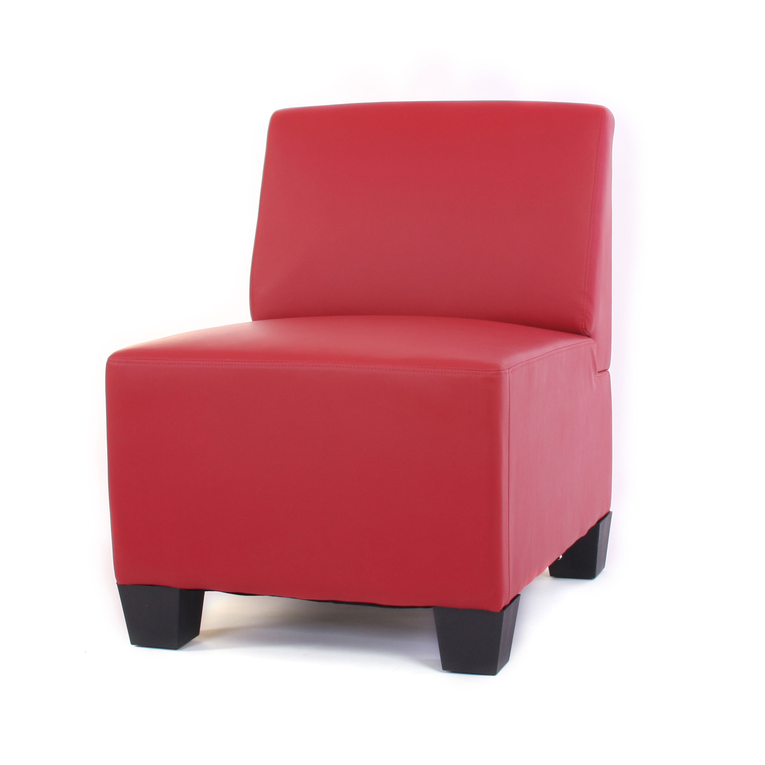 modular 4 sitzer sofa couch lyon kunstleder rot hohe armlehnen. Black Bedroom Furniture Sets. Home Design Ideas