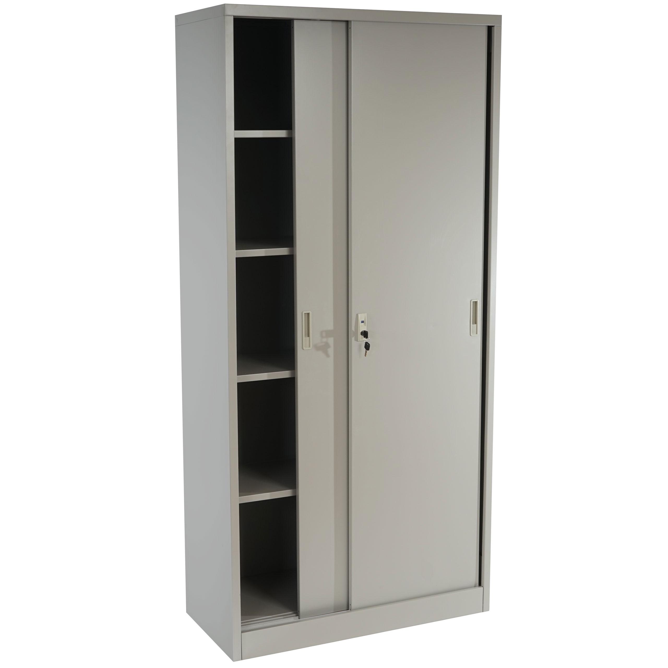 meuble classeur boston t131 vestiaire placard en m tal 43kg 180x85x40cm gris ebay. Black Bedroom Furniture Sets. Home Design Ideas