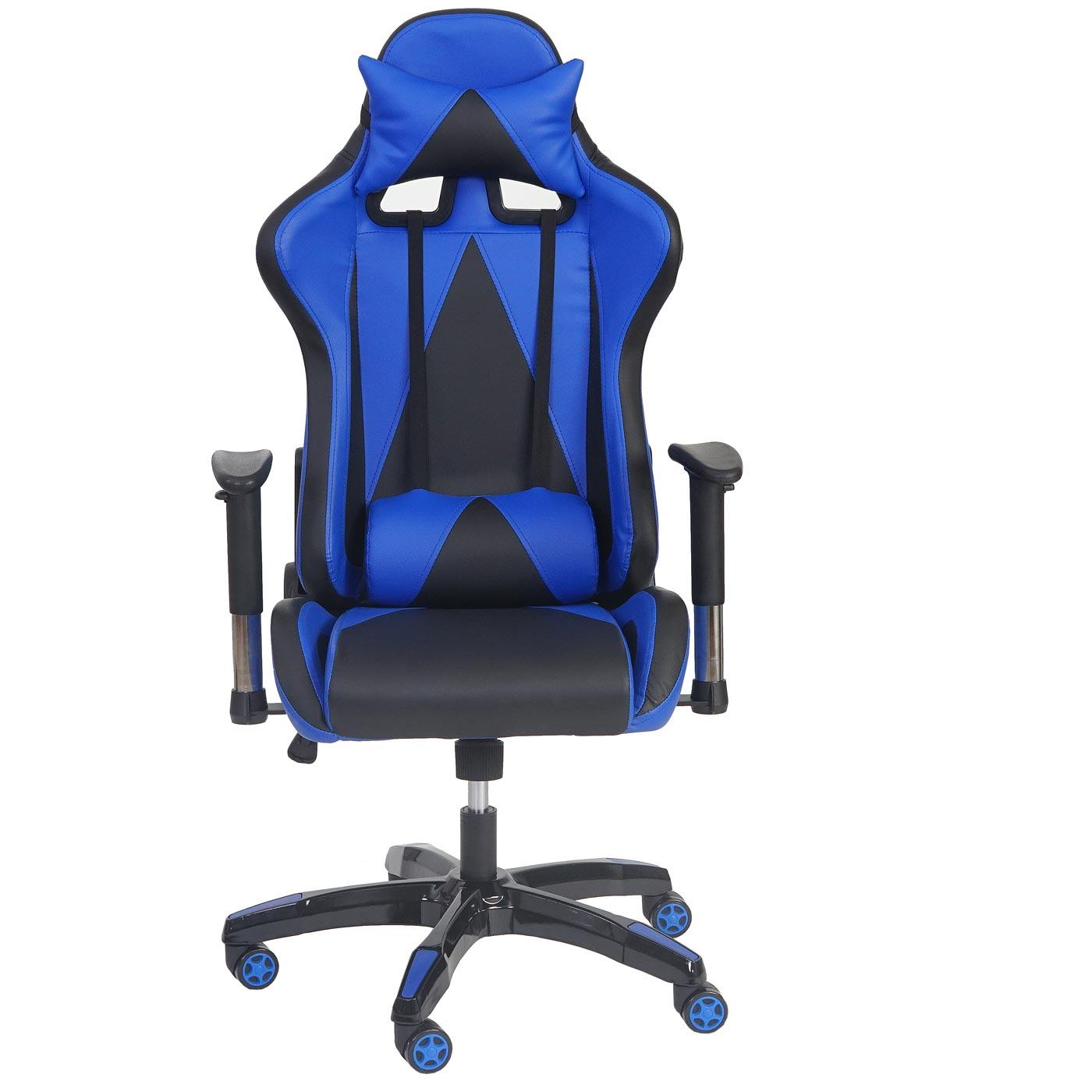 profi b rostuhl hwc t682 xxl drehstuhl gaming 150kg belastbar kunstleder blau. Black Bedroom Furniture Sets. Home Design Ideas