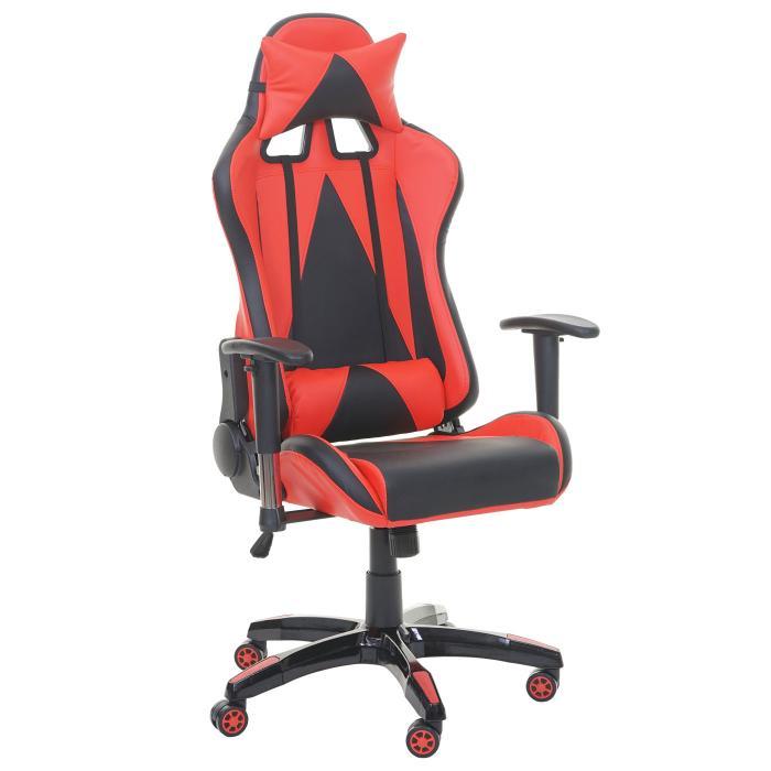 profi b rostuhl hwc t682 xxl drehstuhl gaming 150kg belastbar kunstleder rot. Black Bedroom Furniture Sets. Home Design Ideas