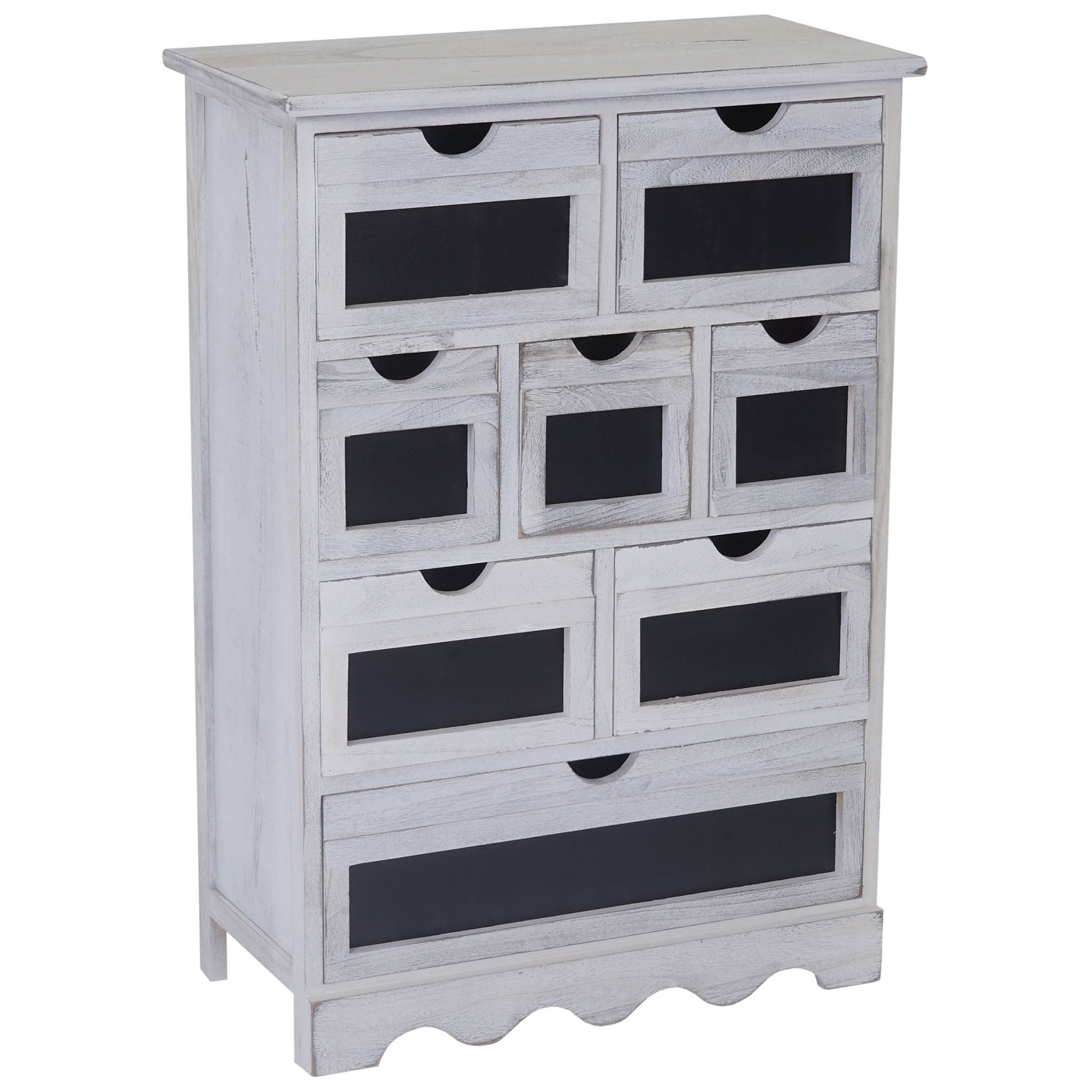 kommode ermelo schubladenschrank mit tafel shabby look. Black Bedroom Furniture Sets. Home Design Ideas