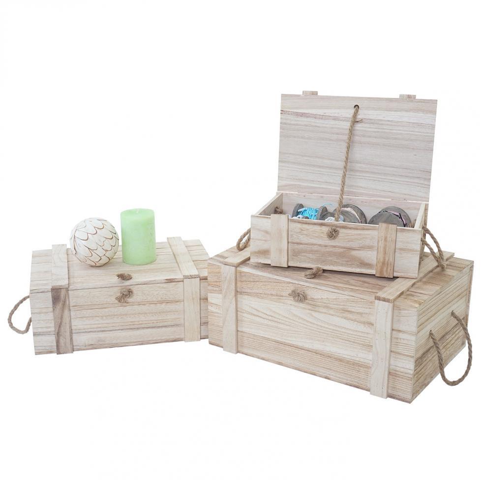 3er set holzbox dornbirn s m l holzkiste schatztruhe. Black Bedroom Furniture Sets. Home Design Ideas