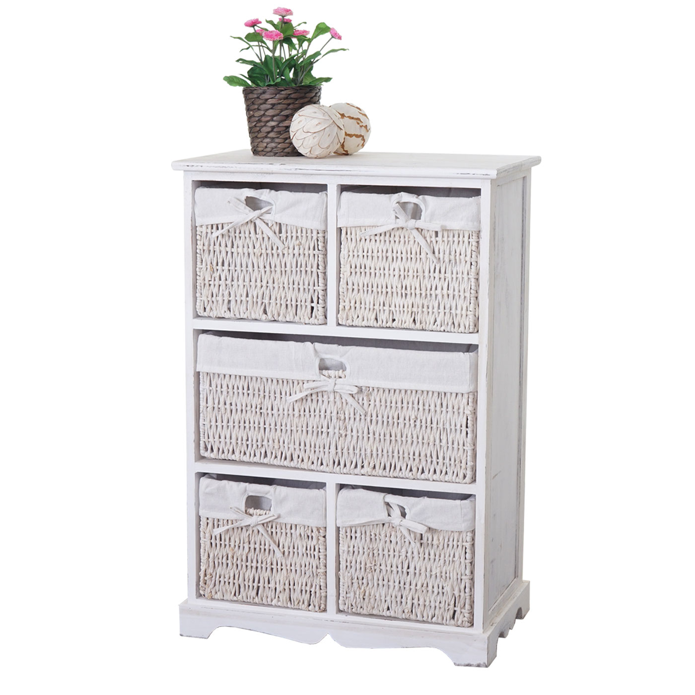 kommode dundee schubladenschrank shabby look vintage 90x60x30cm wei. Black Bedroom Furniture Sets. Home Design Ideas
