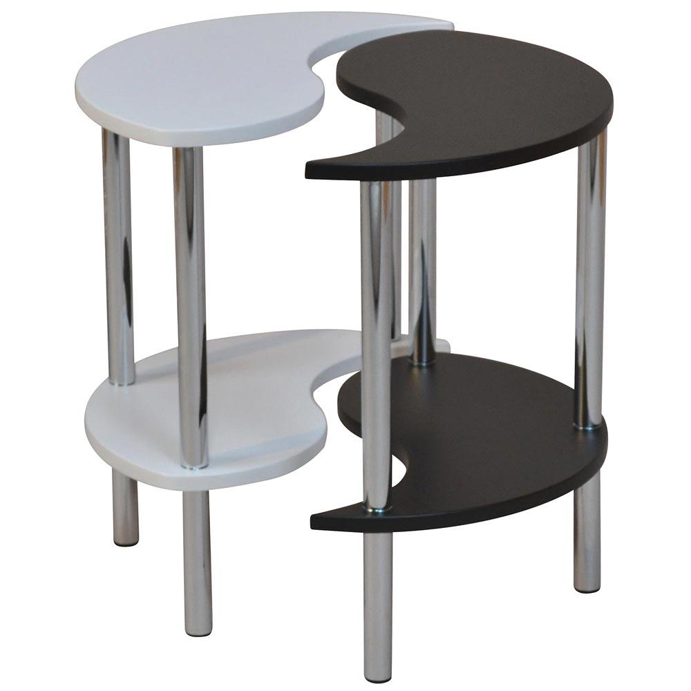 beistelltisch h115 teetisch telefontisch yin und yang 2 teilig. Black Bedroom Furniture Sets. Home Design Ideas