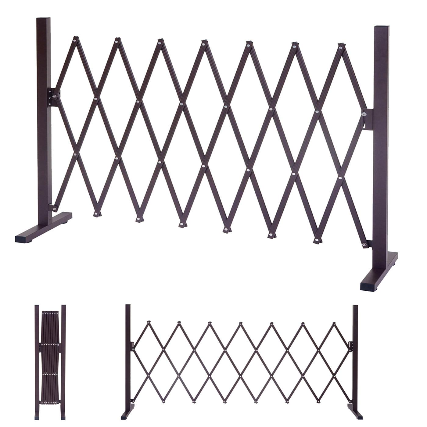 absperrgitter hwc b34 scherengitter rankhilfe tierschutzgitter ausziehbar alu braun 31 261cm. Black Bedroom Furniture Sets. Home Design Ideas