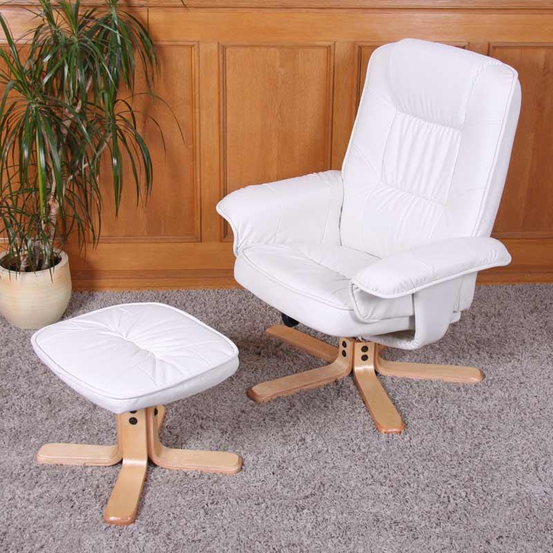 Fauteuil relax de relaxation m56 avec pouf simili cuir ebay - Fauteuil relax avec pouf ...