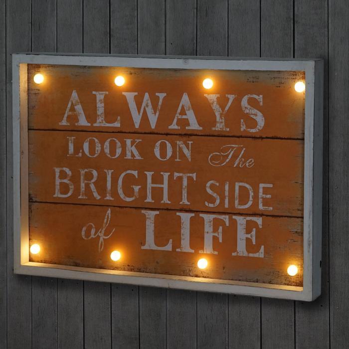 led bulb bild mit beleuchtung leuchtbild wandbild shabby. Black Bedroom Furniture Sets. Home Design Ideas