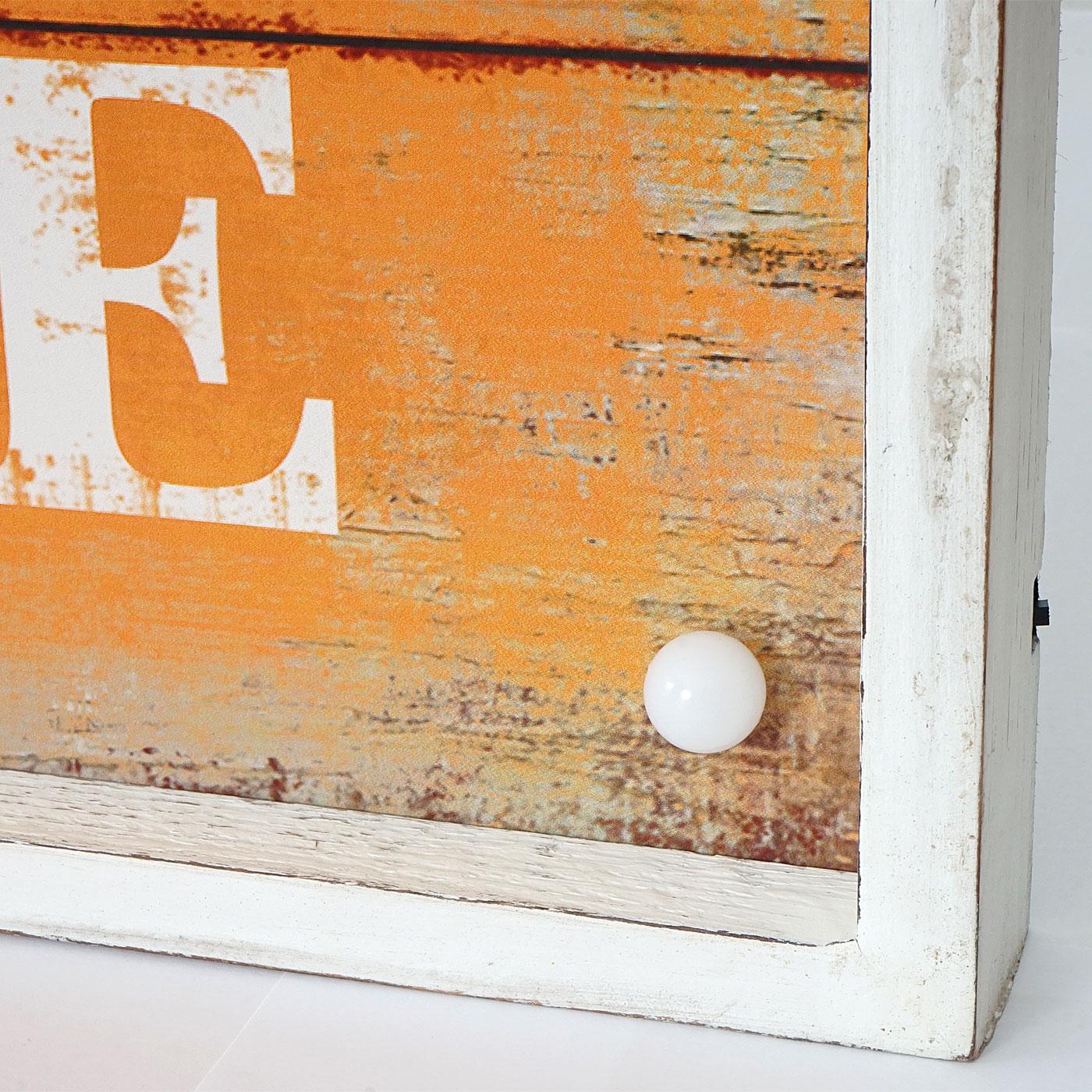 led bulb bild mit beleuchtung leuchtbild wandbild shabby look vintage 60x40cm life. Black Bedroom Furniture Sets. Home Design Ideas