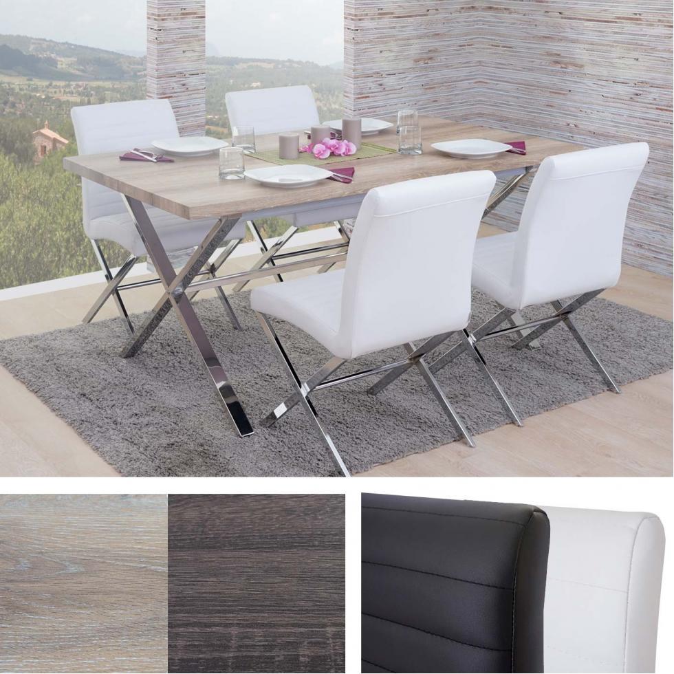 Esszimmergarnitur Fano Essgruppe Tisch 4 Stühle 3D