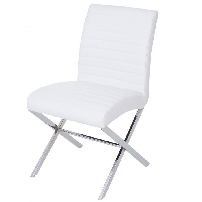 Stühle weiß kunstleder  Fano, Tisch + 4 Stühle, 3D-Struktur Kunstleder ~ Eiche-Optik ...