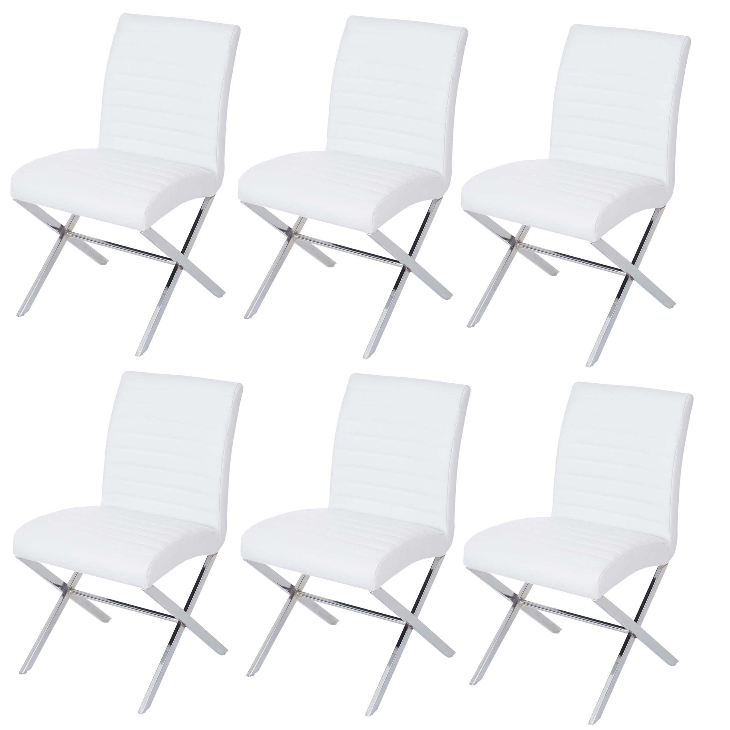 Set 2x sedie sala da pranzo ufficio fano t711 ecopelle acciaio 60x47x87cm ebay - Sedie sala da pranzo ...