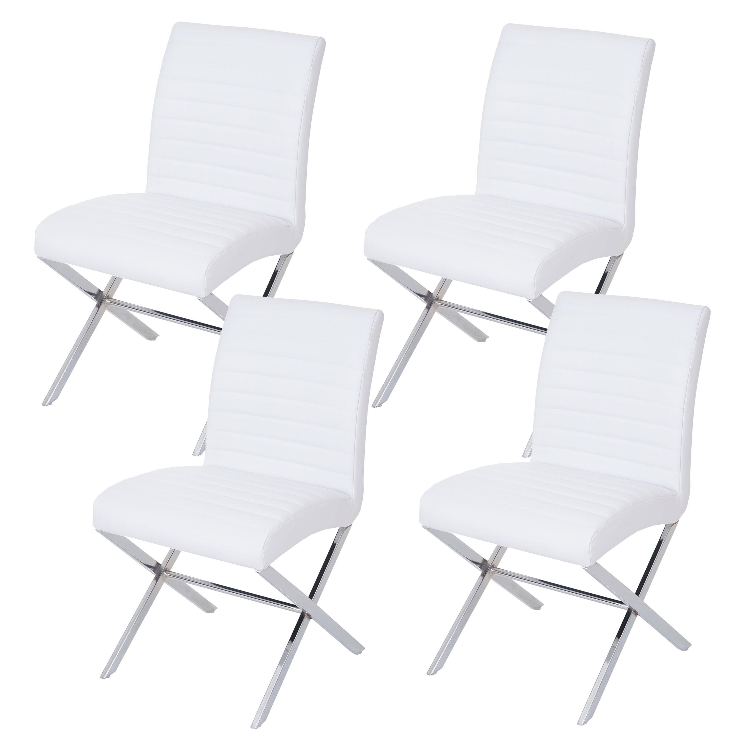 Set 4x sedie sala da pranzo ufficio fano t711 ecopelle acciaio 60x47x87cm ebay - Sedie sala da pranzo ...