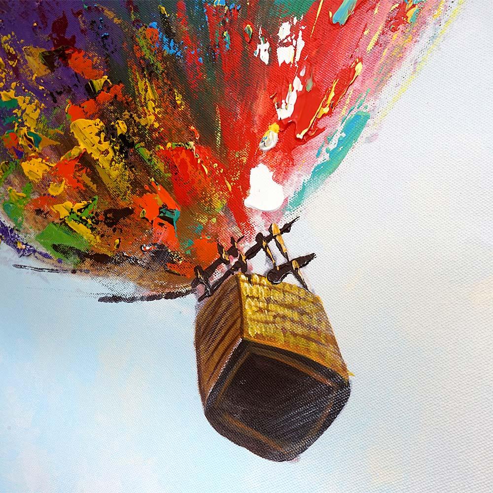 lgem lde hei luftballon 100 handgemaltes wandbild gem lde xl 100x100cm. Black Bedroom Furniture Sets. Home Design Ideas