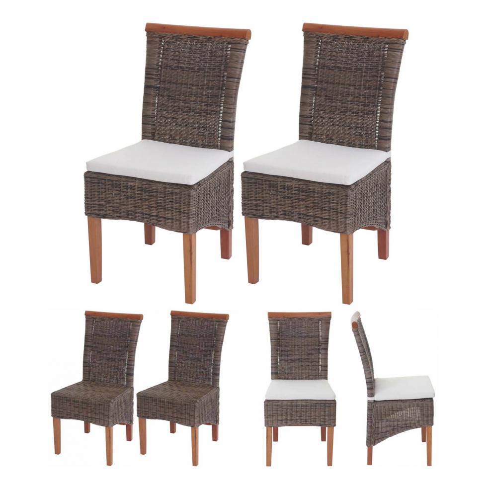 2x esszimmerstuhl savona stuhl lehnstuhl rattan mit oder. Black Bedroom Furniture Sets. Home Design Ideas