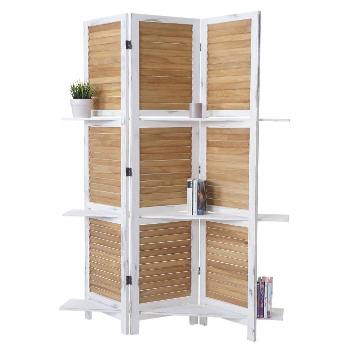 paravent yvelines trennwand raumteiler mit regalb den. Black Bedroom Furniture Sets. Home Design Ideas