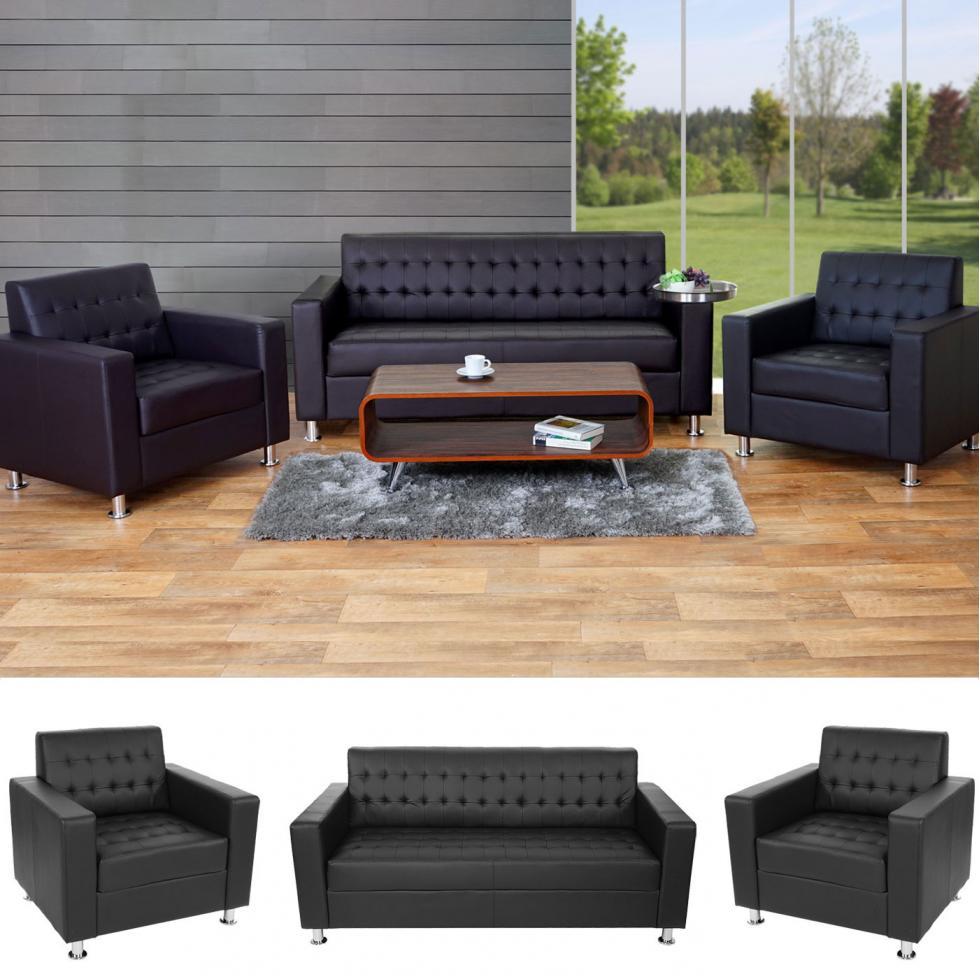 3 1 1 sofagarnitur kunda couch loungesofa kunstleder. Black Bedroom Furniture Sets. Home Design Ideas
