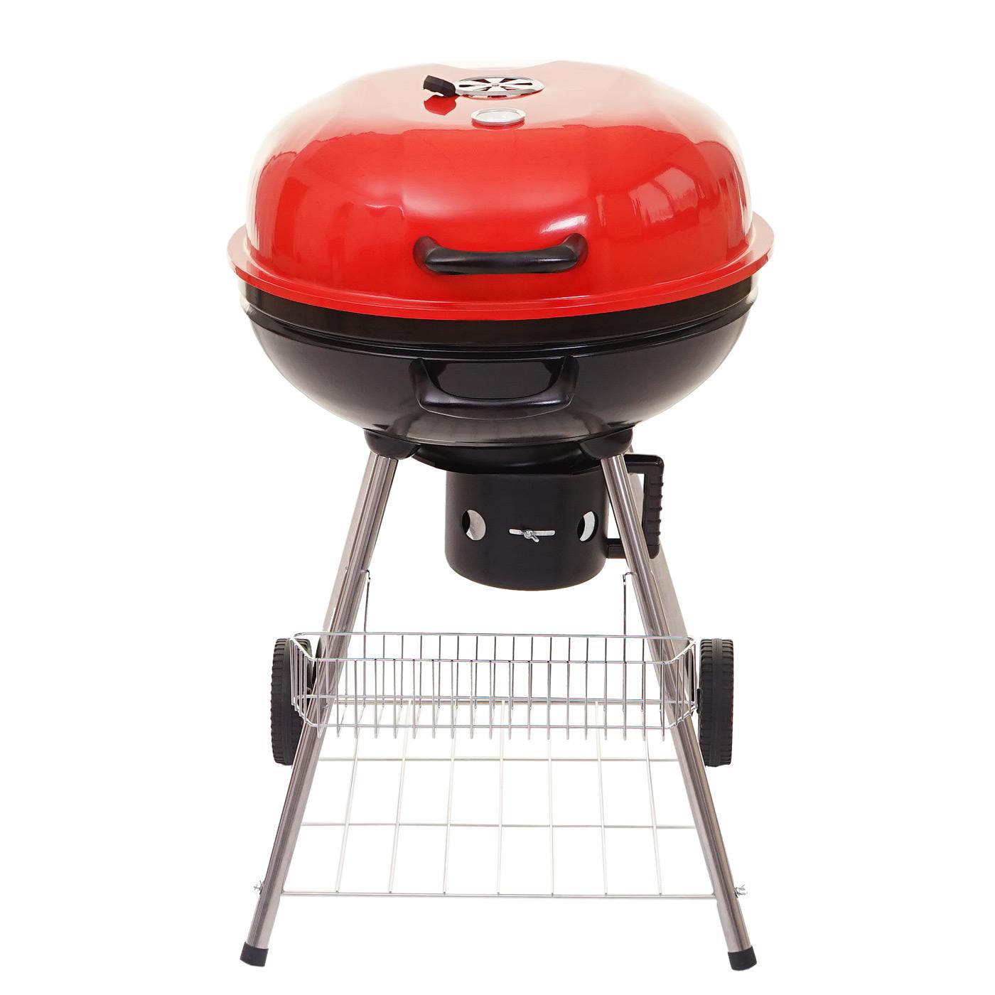 Kugelgrill abilene holzkohle grill 54cm grillfl che for Grill holzkohle