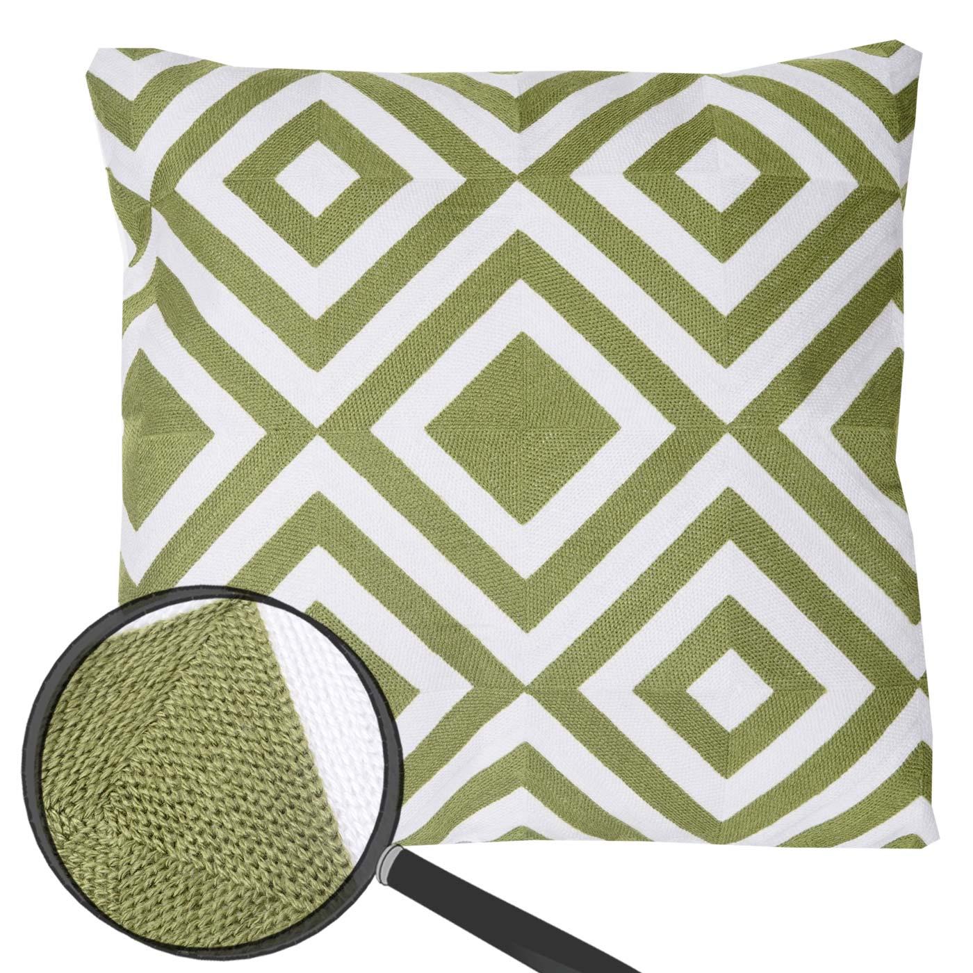 deko kissen rauten sofakissen zierkissen mit f llung gr n 45x45cm. Black Bedroom Furniture Sets. Home Design Ideas