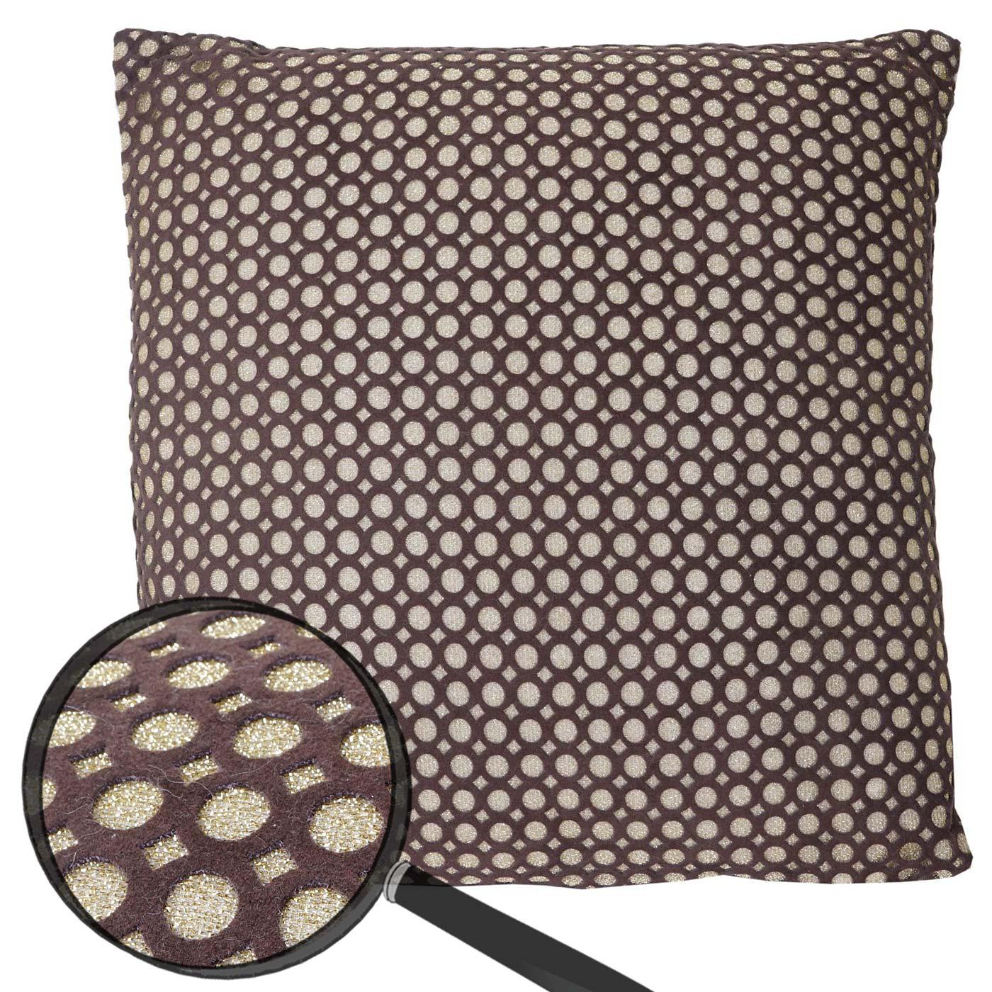 deko kissen gold sofakissen zierkissen mit f llung braun glanz effekt 40x40cm. Black Bedroom Furniture Sets. Home Design Ideas