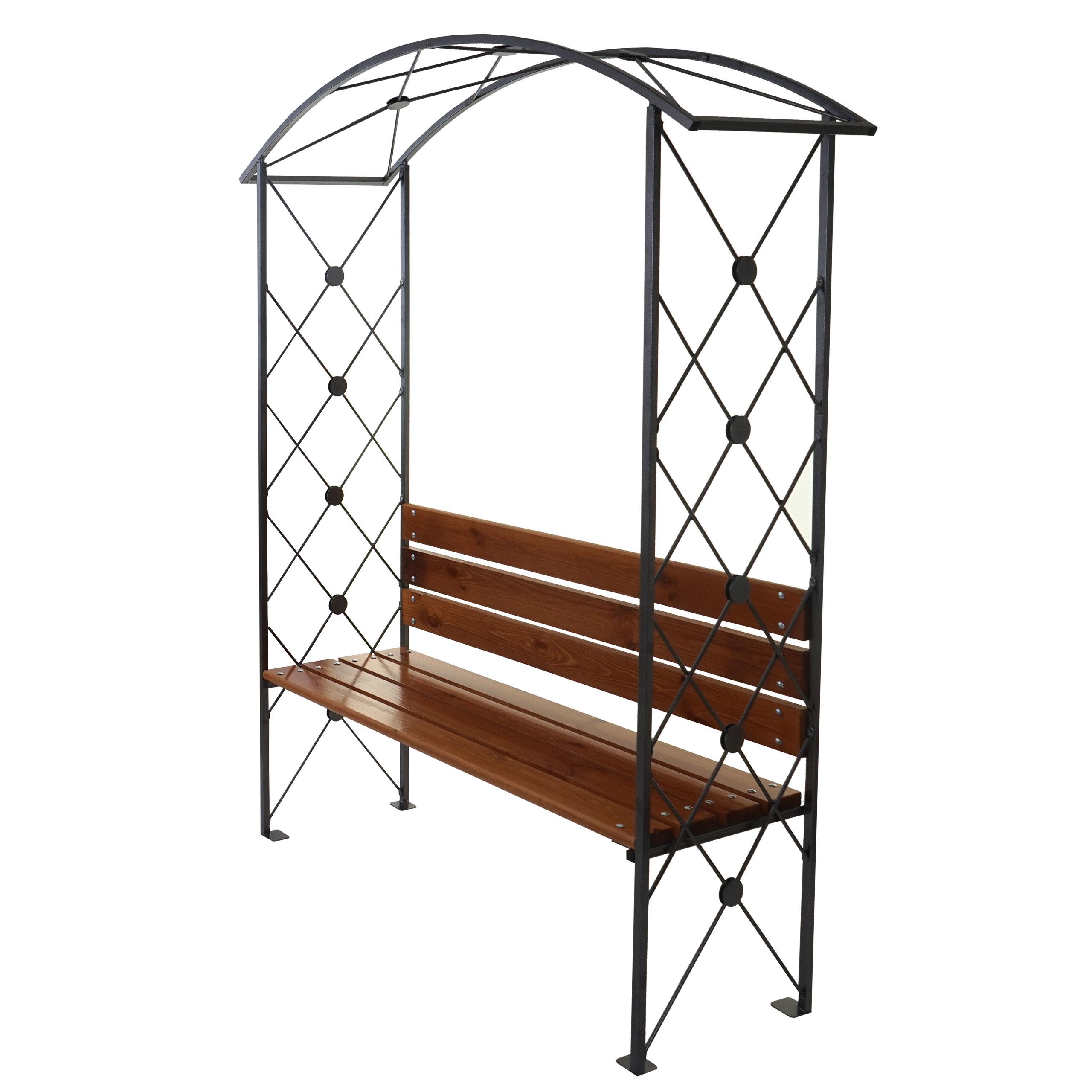 rosenbogen dijon gartenbank rankgitter mit sitzbank holz 210x155x50cm ebay. Black Bedroom Furniture Sets. Home Design Ideas