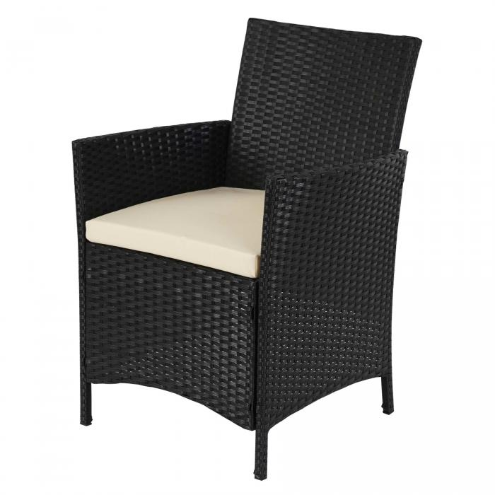 2 1 1 poly rattan garten garnitur halden sitzgruppe. Black Bedroom Furniture Sets. Home Design Ideas