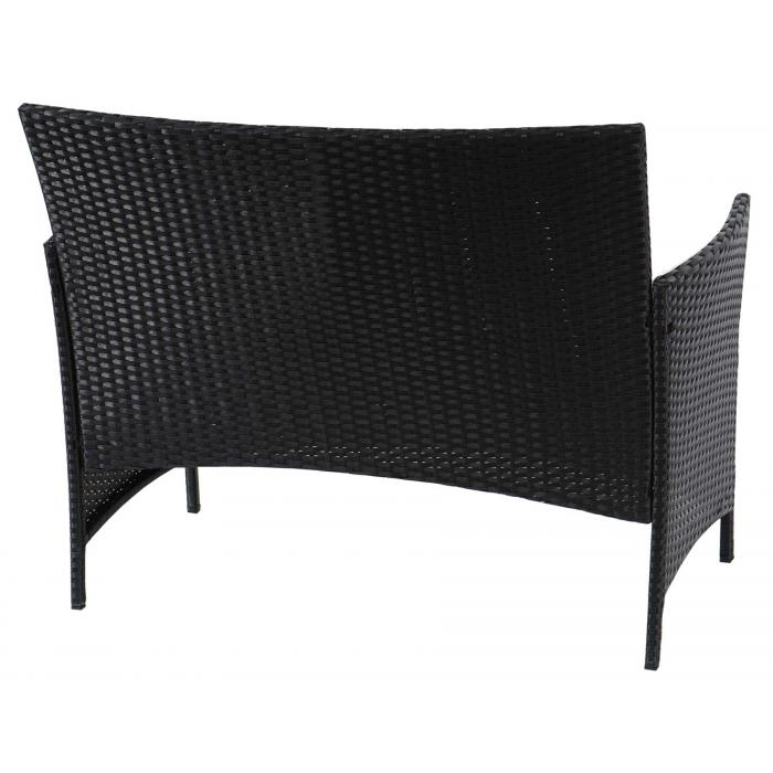 poly rattan gartenbank halden sitzbank bank anthrazit. Black Bedroom Furniture Sets. Home Design Ideas