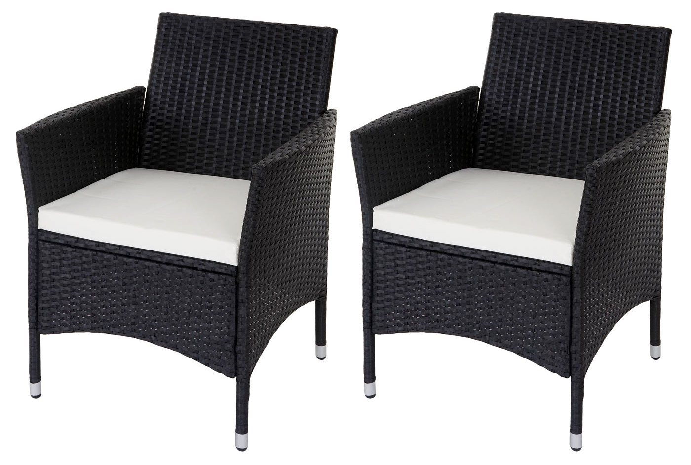 poly rattan garten garnitur modica 2x sessel sitzkissen tisch mit glasplatte ebay. Black Bedroom Furniture Sets. Home Design Ideas