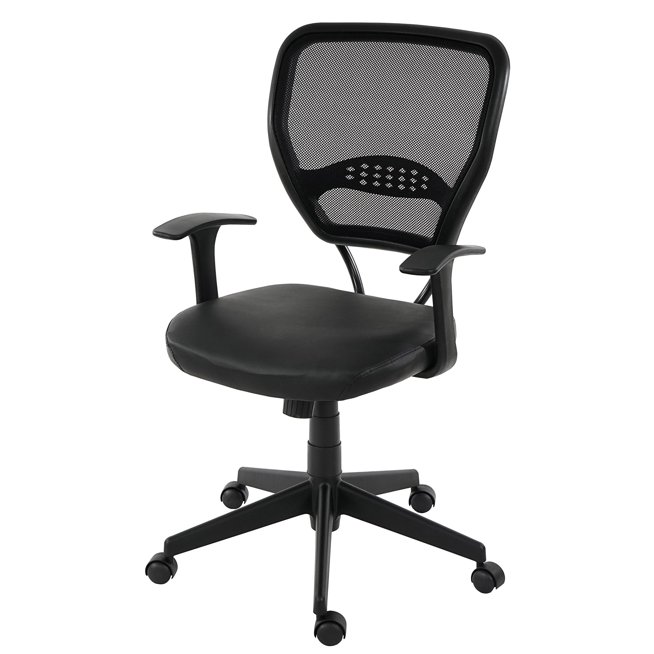 profi b rostuhl seattle chefsessel drehstuhl 150kg belastbar kunstleder schwarz mit armlehnen. Black Bedroom Furniture Sets. Home Design Ideas