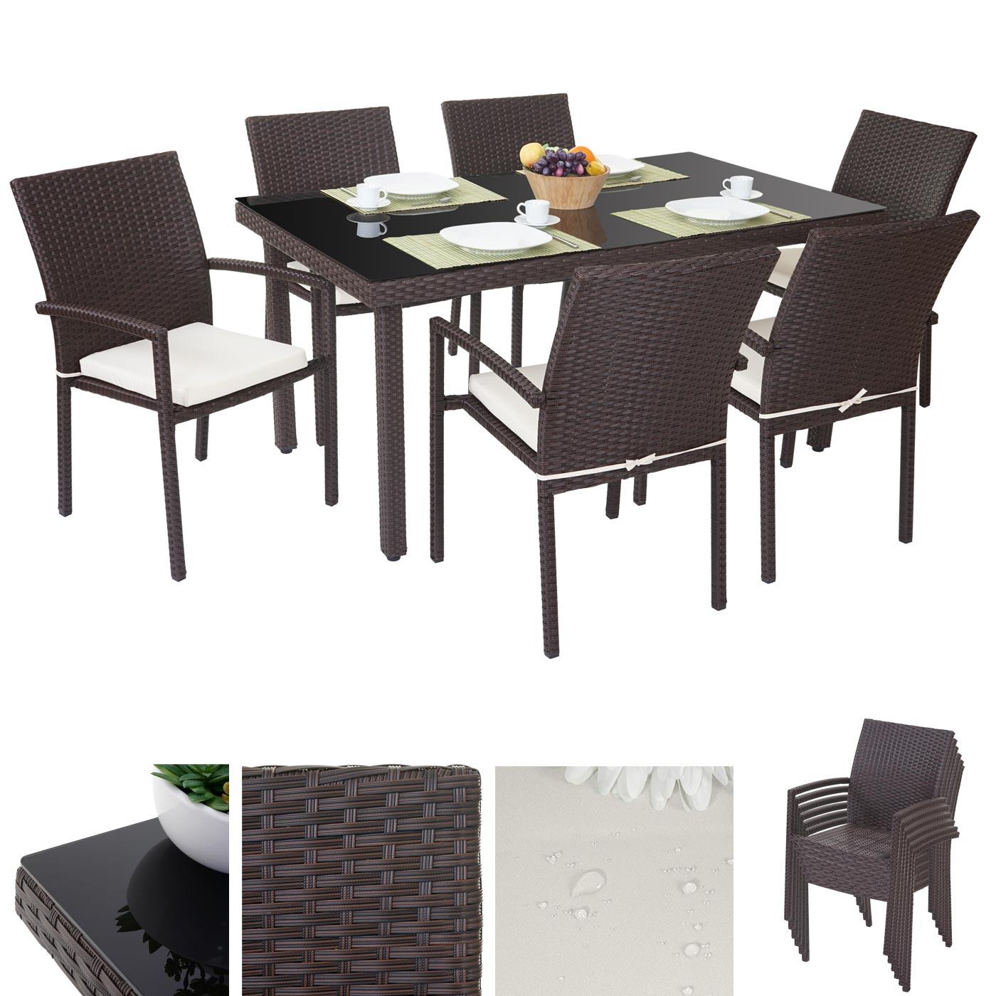 gartensitzgruppe rattan. Black Bedroom Furniture Sets. Home Design Ideas