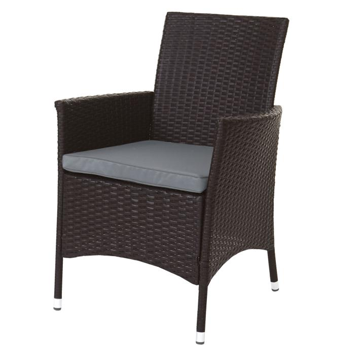 poly rattan garnitur terni garten sitzgruppe tisch 8 sessel alu braun kissen hellgrau. Black Bedroom Furniture Sets. Home Design Ideas