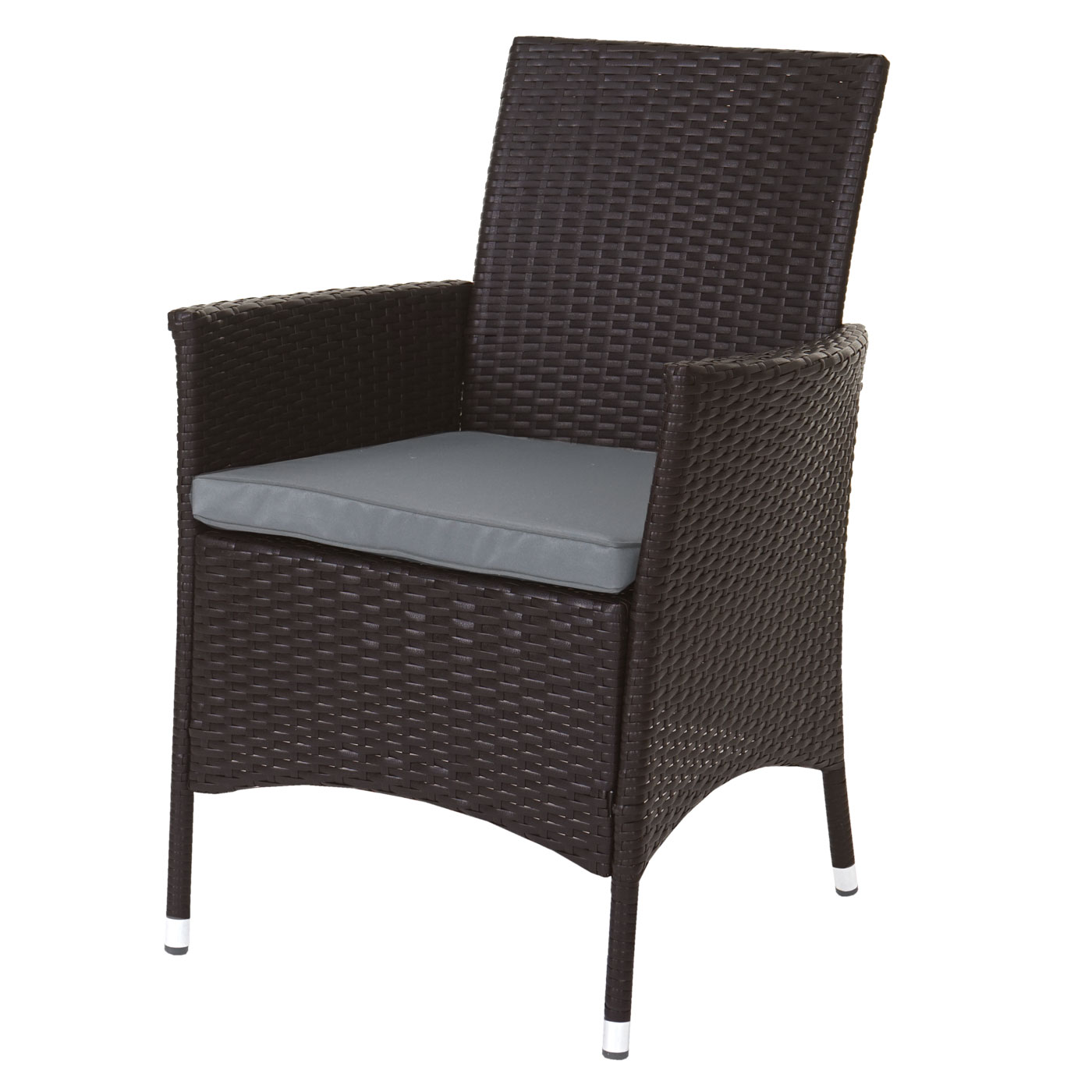 poly rattan garnitur terni garten sitzgruppe tisch 8 sessel alu braun kissen hellgrau. Black Bedroom Furniture Sets. Home Design Ideas