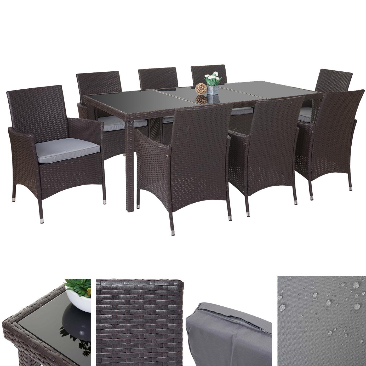 poly rattan garnitur terni garten sitzgruppe tisch 8. Black Bedroom Furniture Sets. Home Design Ideas