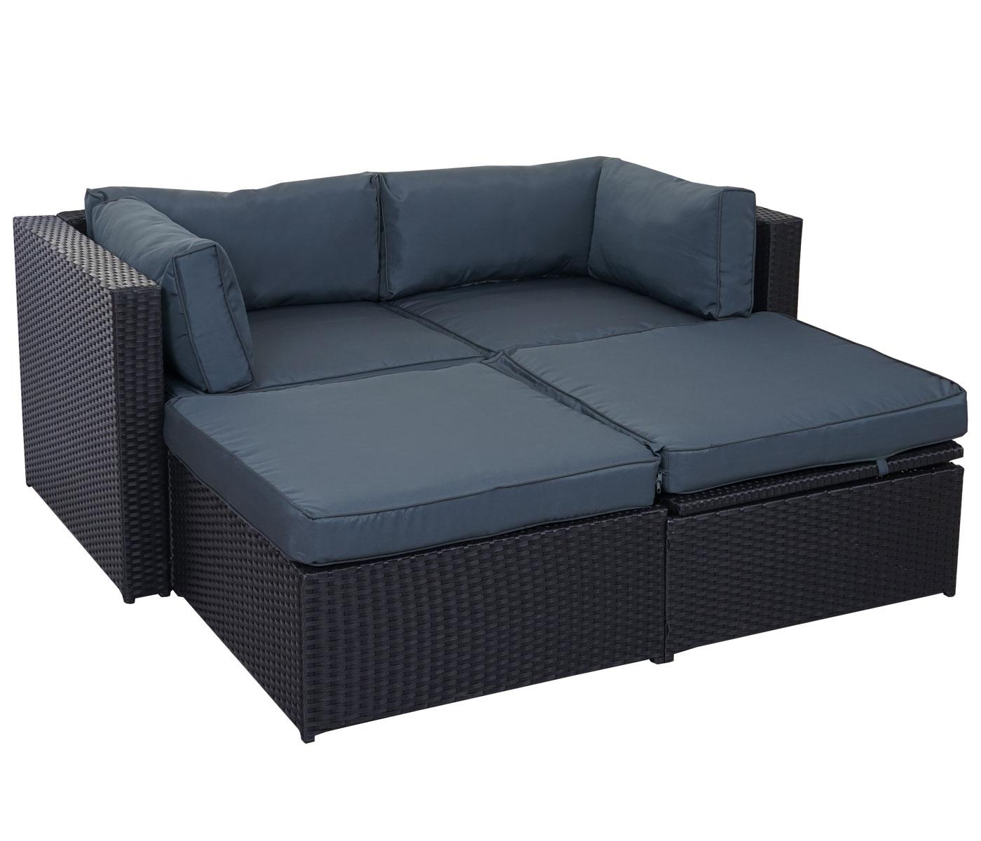 Divano con penisola mobile da esterno adana polyrattan con - Altezza seduta divano ...