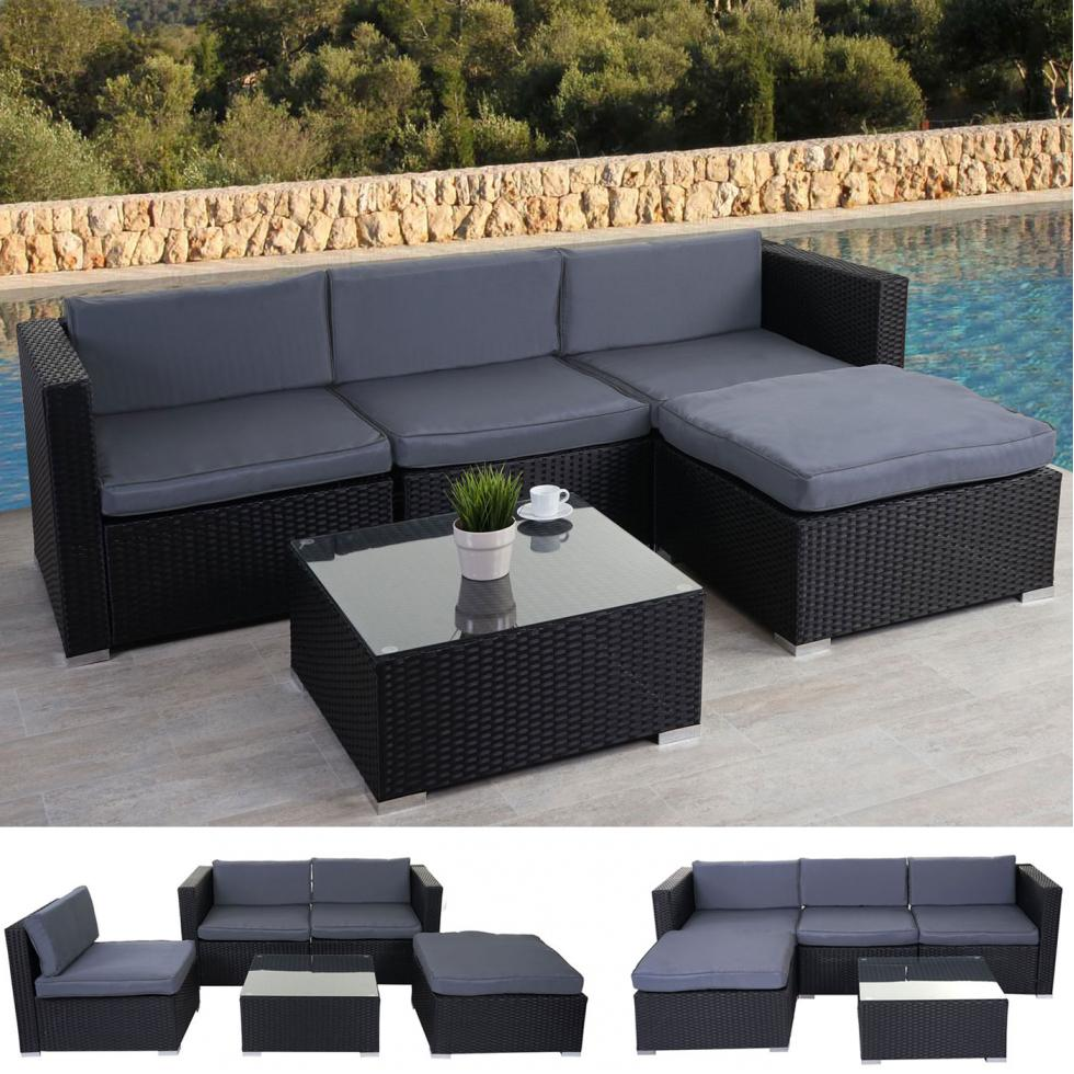 poly rattan garnitur marsala gartengarnitur lounge set. Black Bedroom Furniture Sets. Home Design Ideas