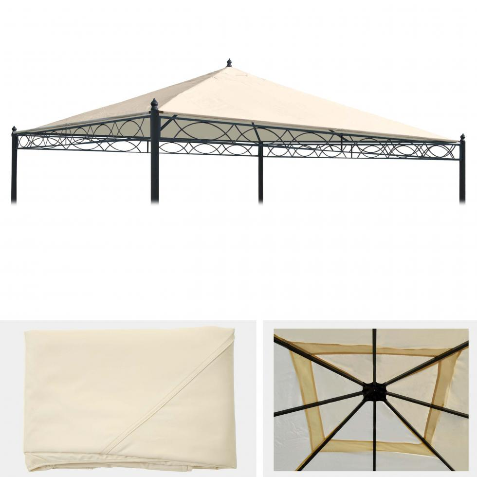 ersatzdach f r pergola cadiz 4x4m dach bezug sonnenschutz. Black Bedroom Furniture Sets. Home Design Ideas